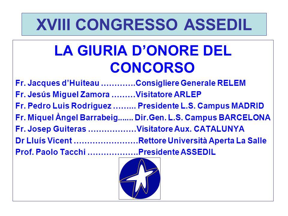 XVIII CONGRESSO ASSEDIL INGEGNERIA Vincitore PROGETTO DRONE Gruppo NEOSOFT Colegio La Salle – Virgen del Mar ALMERIA