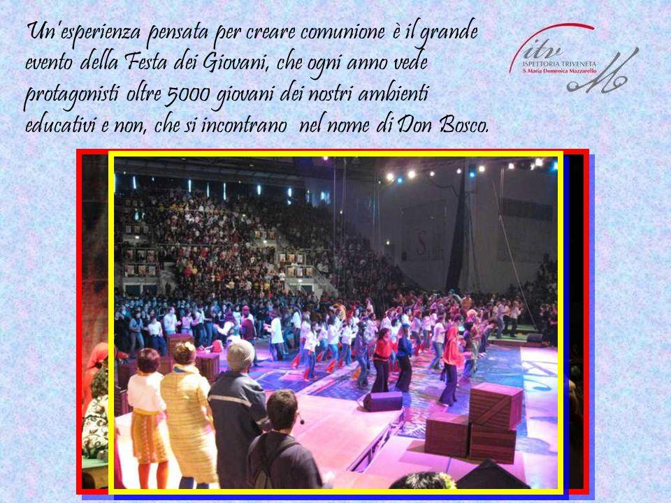 Un'esperienza pensata per creare comunione è il grande evento della Festa dei Giovani, che ogni anno vede protagonisti oltre 5000 giovani dei nostri a