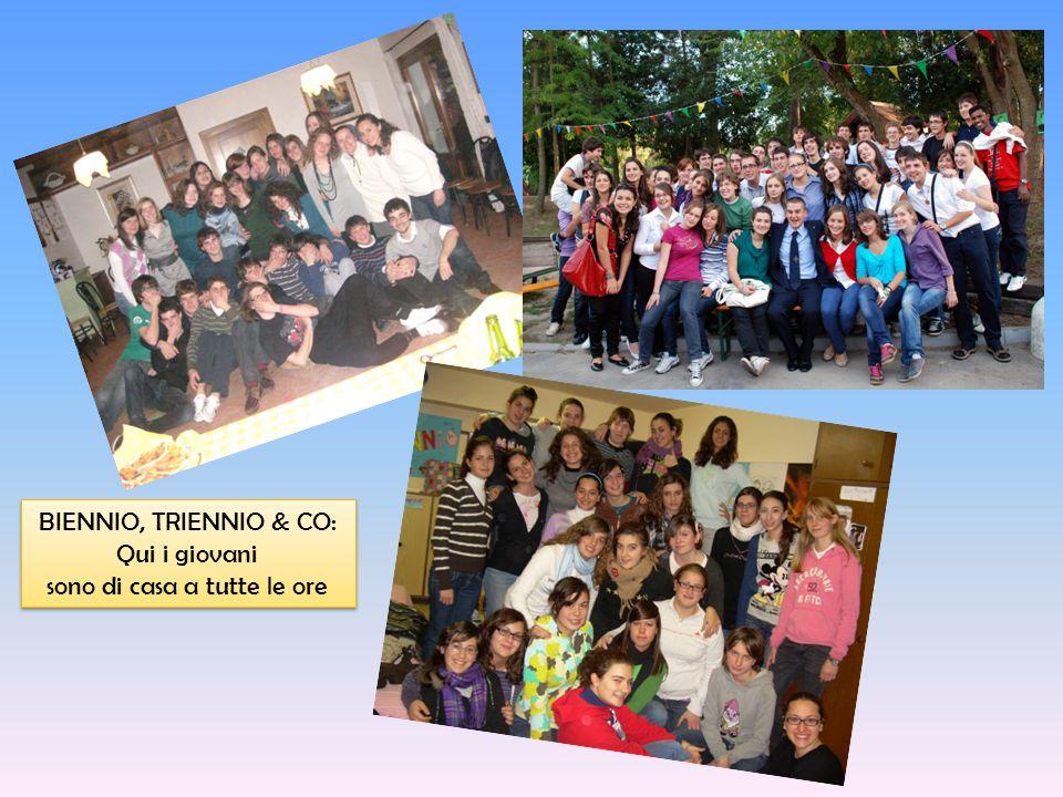 BIENNIO, TRIENNIO & CO: Qui i giovani sono di casa a tutte le ore BIENNIO, TRIENNIO & CO: Qui i giovani sono di casa a tutte le ore