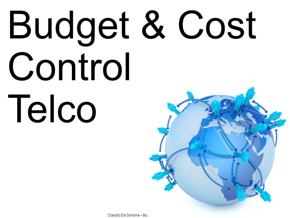 Claudio De Simone – Budget & Cost Control Budget & Cost Control Telco