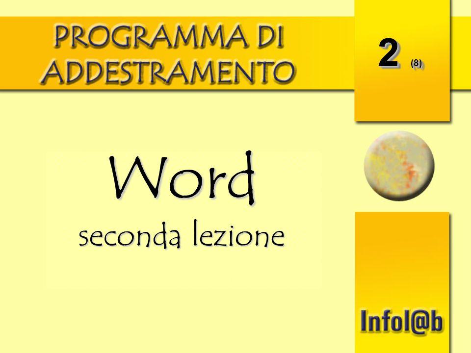 2 (8) Word seconda lezione