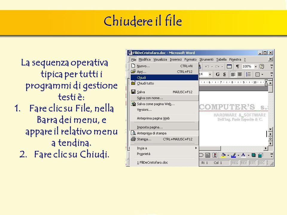 Chiudere il file finestra di dialogo Nuovo, nella quale si può scegliere sia il documento vuoto, sia un altro documento tipo, da scegliere tra i model