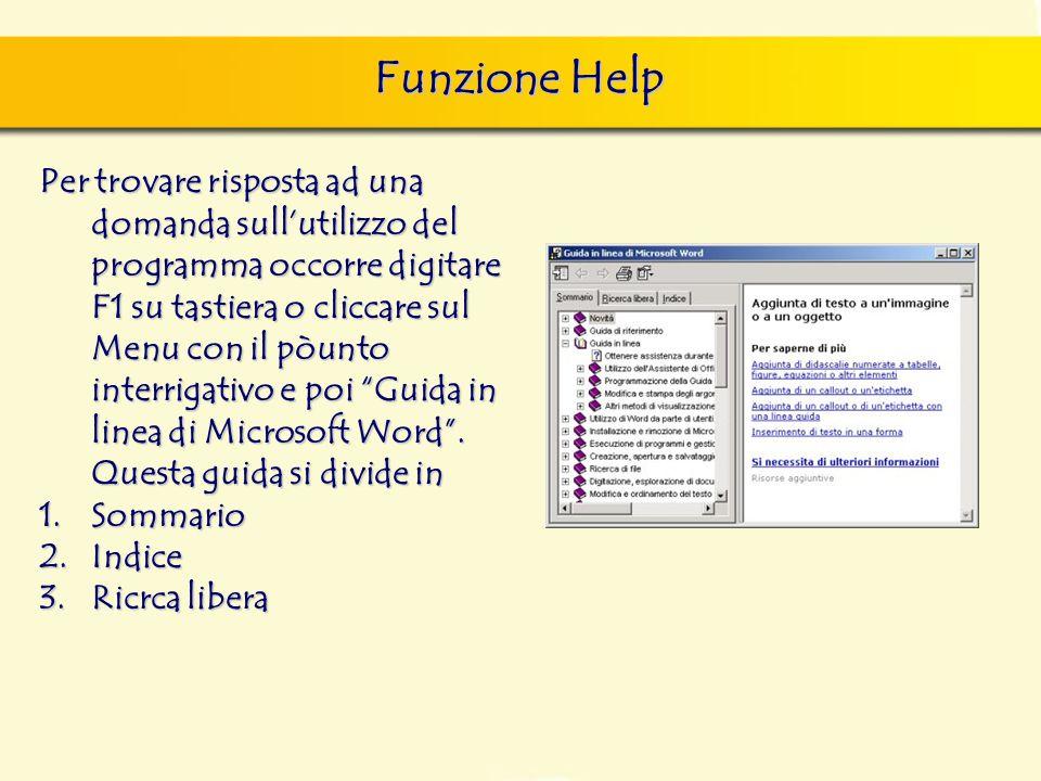 Funzione Help finestra di dialogo Nuovo, nella quale si può scegliere sia il documento vuoto, sia un altro documento tipo, da scegliere tra i modelli
