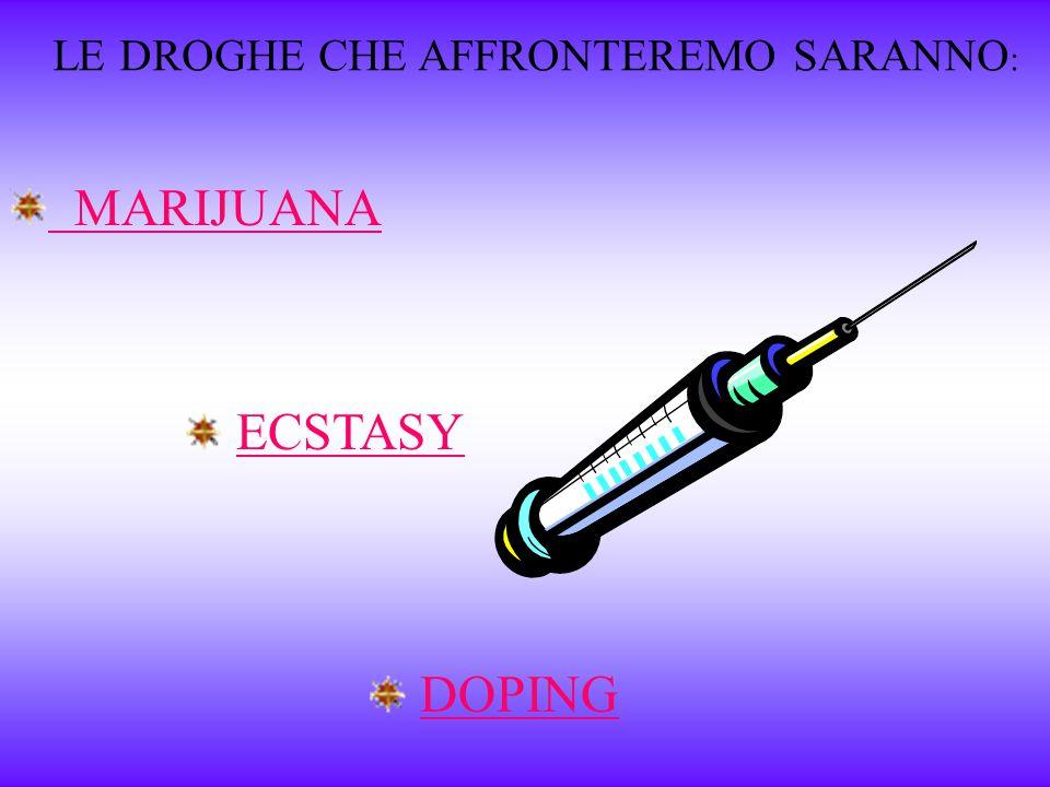 I principali motivi per cui si fa uso di droga sono: Sperimentale, per curiosità; Strumentale, per ottenere un aumento dell'efficienza dell'attività f