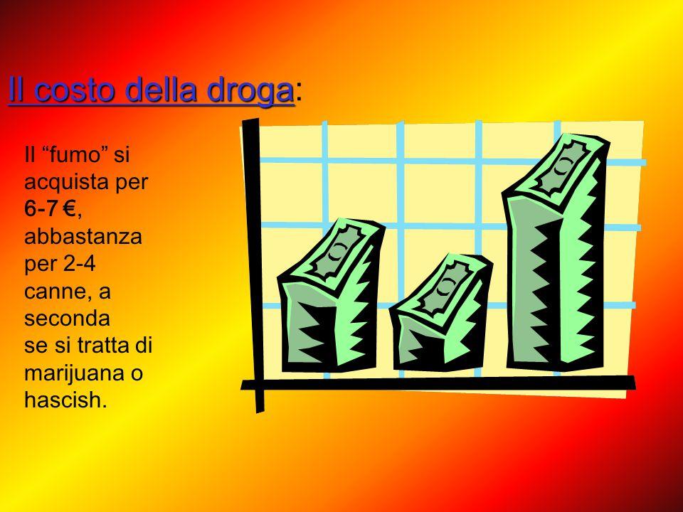 Droga in cifre: Il 43% degli studenti italiani ha fatto uso di droghe; Il 31% tra i 15 e i 19 anni fuma costantemente spinelli; Il 2% ha avuto il prim