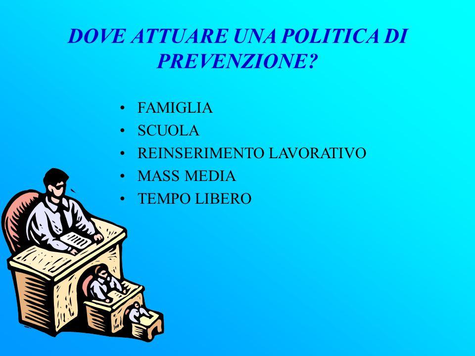 In Italia, esistono molte Associazioni, il cui obiettivo è di educare l'uomo. Per impostare un'adeguata prevenzione, devono essere in grado di capire