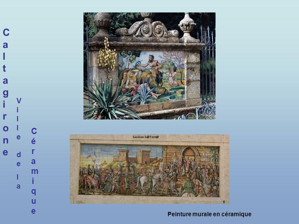 CaltagironeCaltagirone CéramiqueCéramique Peinture murale en céramique Ville delaVille dela