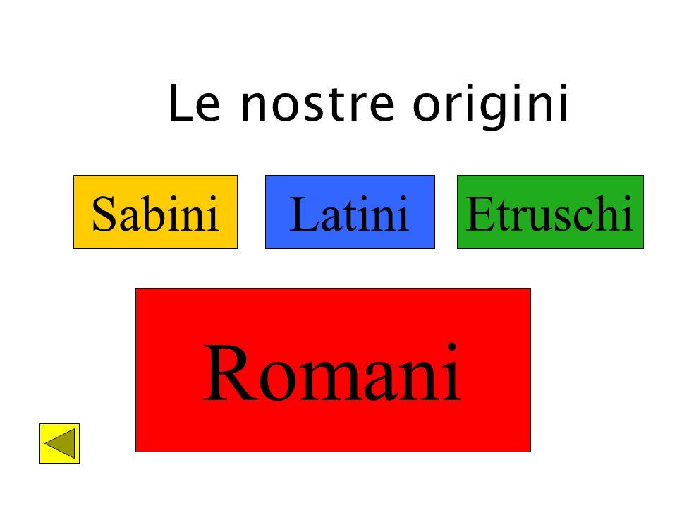 SabiniLatini Le nostre origini Etruschi Romani