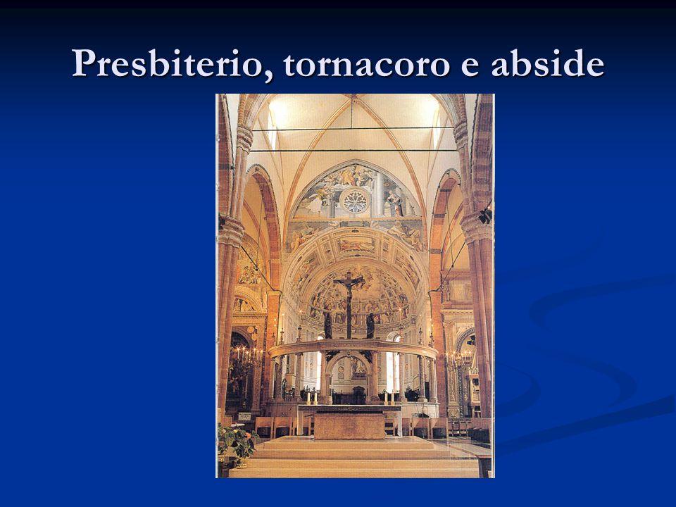 Presbiterio, tornacoro e abside