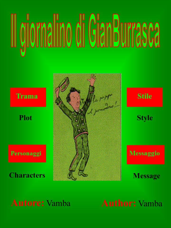 Autore: Vamba Trama Personaggi Stile Messaggio Plot Characters Style Message Author: Vamba