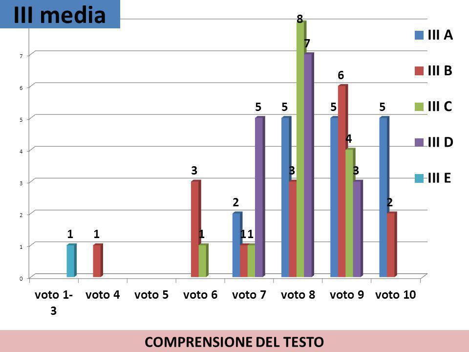 COMPRENSIONE DEL TESTO
