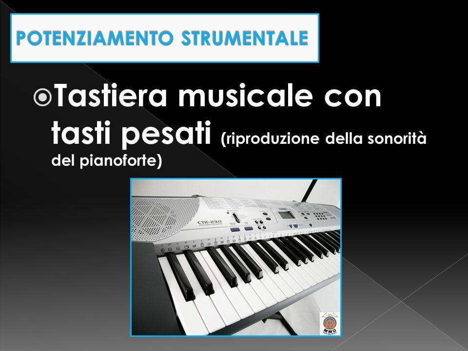  Tastiera musicale con tasti pesati (riproduzione della sonorità del pianoforte)