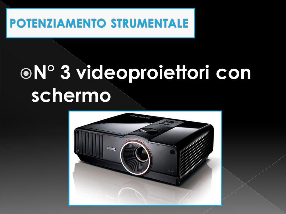  N° 3 videoproiettori con schermo