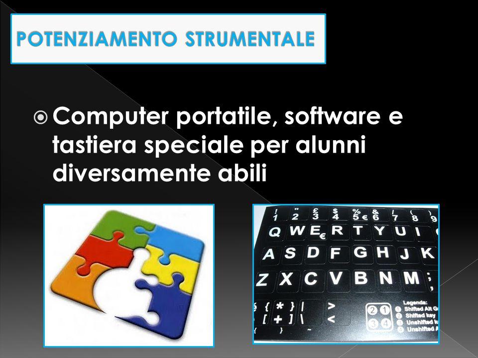  Computer portatile, software e tastiera speciale per alunni diversamente abili
