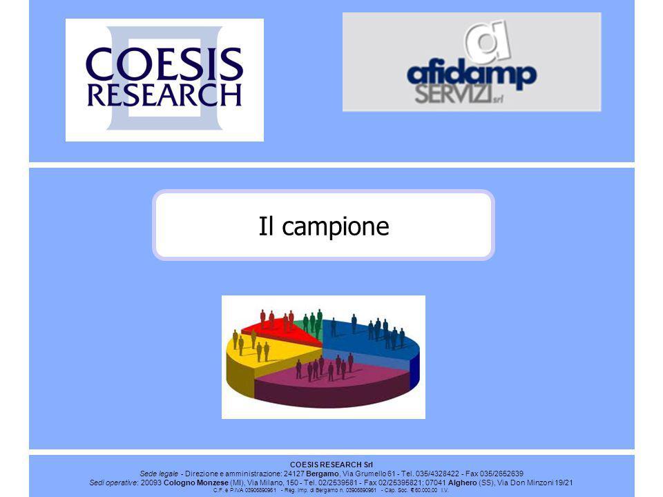 COESIS RESEARCH Srl Sede legale - Direzione e amministrazione: 24127 Bergamo, Via Grumello 61 - Tel.
