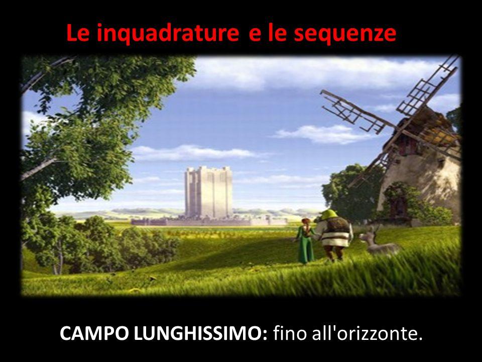 Le inquadrature e le sequenze CAMPO LUNGHISSIMO: fino all orizzonte.