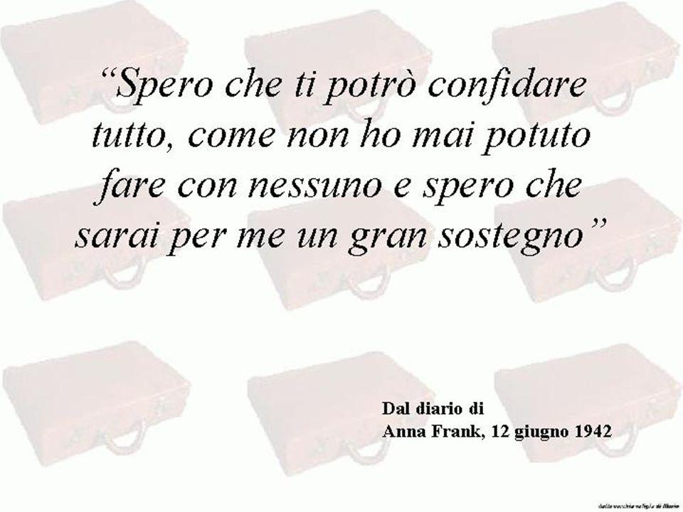 """""""Spero che ti potrò confidare tutto, come non ho mai potuto fare con nessuno e spero che sarai per me un gran sostegno"""" Dal diario di Anna Frank, 12 g"""