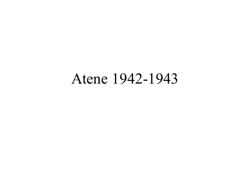 Atene 1942-1943