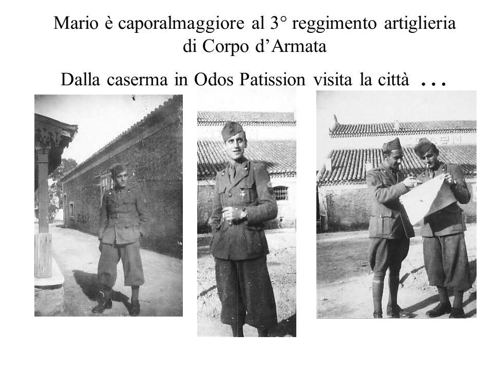 Mario è caporalmaggiore al 3° reggimento artiglieria di Corpo d'Armata Dalla caserma in Odos Patission visita la città …