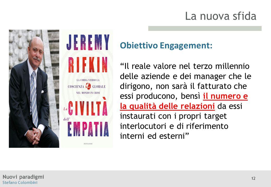 """Nuovi paradigmi Stefano Colombini TITOLO Moodle Obiettivo Engagement: """"Il reale valore nel terzo millennio delle aziende e dei manager che le dirigono"""