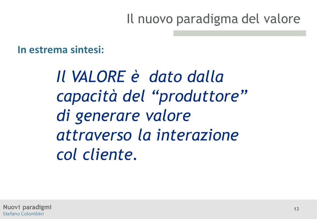"""Nuovi paradigmi Stefano Colombini TITOLO Moodle In estrema sintesi: Il nuovo paradigma del valore Il VALORE è dato dalla capacità del """"produttore"""" di"""