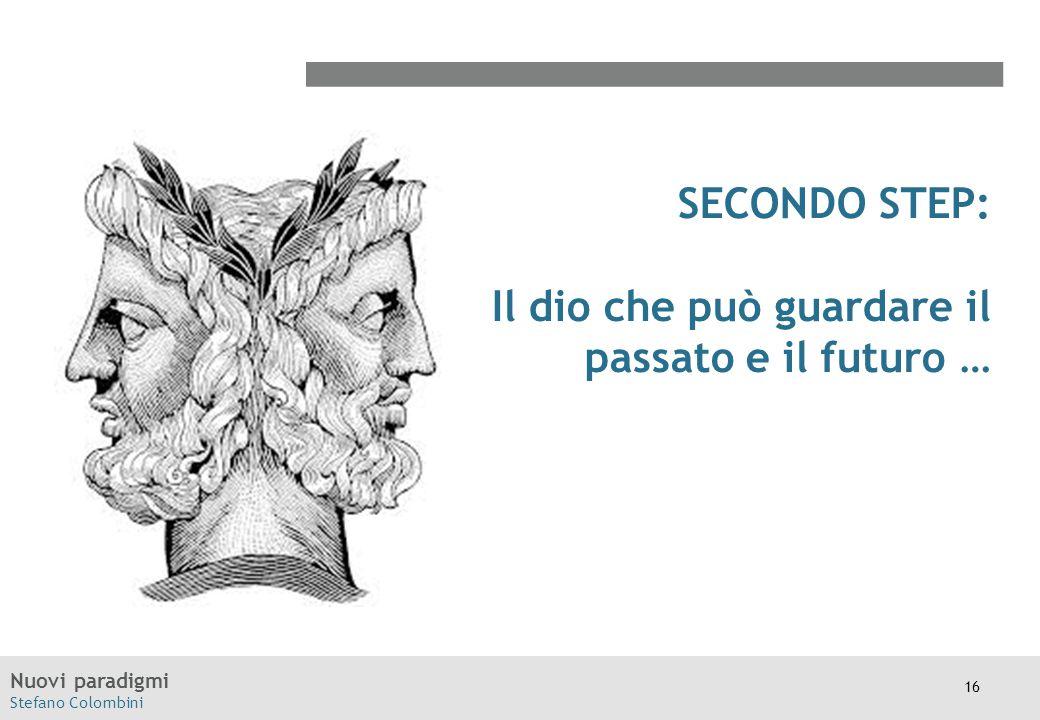 Nuovi paradigmi Stefano Colombini SECONDO STEP: Il dio che può guardare il passato e il futuro … 16