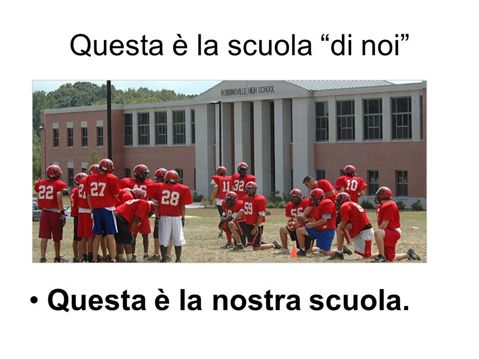 """Questa è la scuola """"di noi"""" Questa è la nostra scuola."""