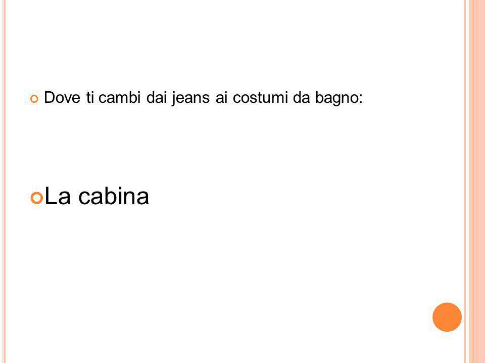 Dove ti cambi dai jeans ai costumi da bagno: La cabina