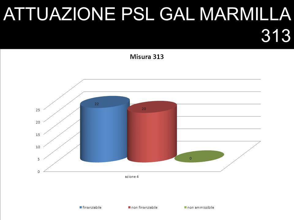 ATTUAZIONE PSL GAL MARMILLA 313