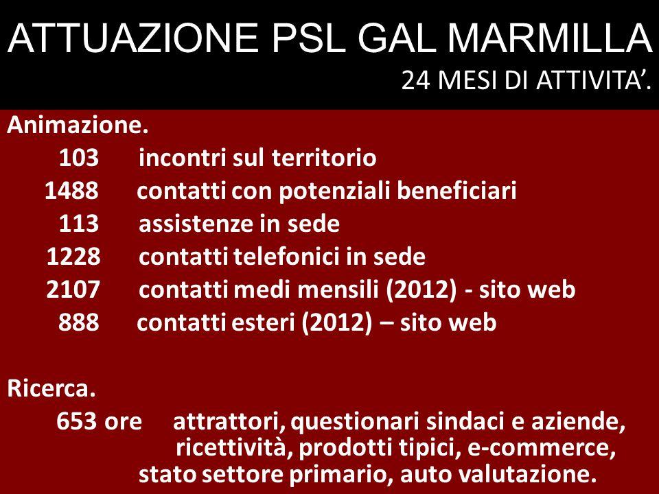 ATTUAZIONE PSL GAL MARMILLA 24 MESI DI ATTIVITA'.