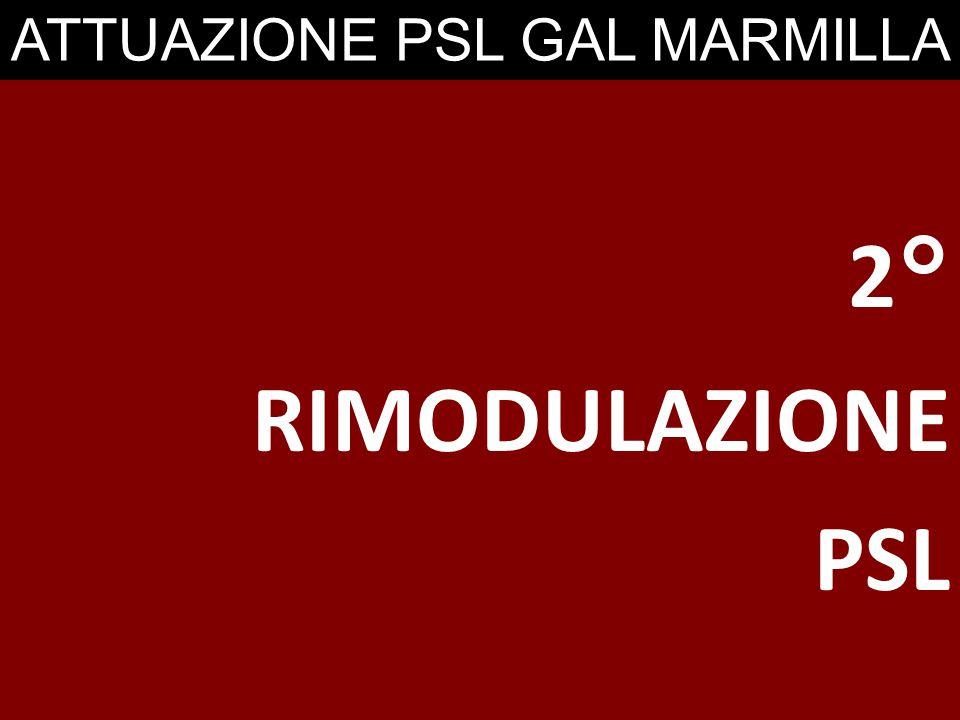 ATTUAZIONE PSL GAL MARMILLA 2° RIMODULAZIONE PSL