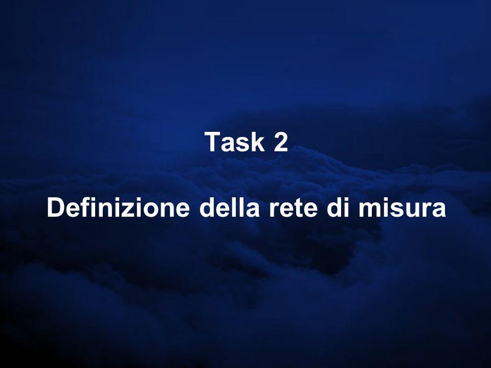 Task 2 Definizione della rete di misura