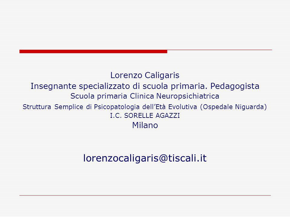Lorenzo Caligaris Insegnante specializzato di scuola primaria.