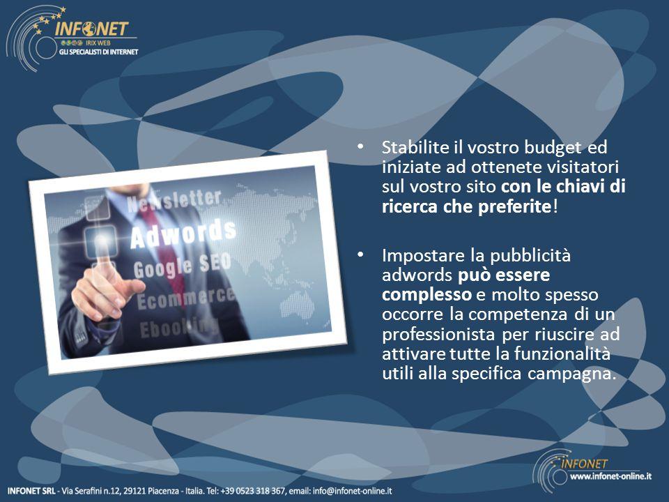 Infonet è certificata Google per la pubblicità adwords, il che è garanzia della qualità del nostro lavoro.