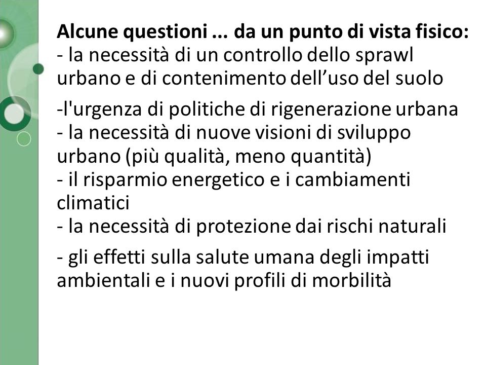 QUADRO DEI PROGETTI > Lombardia orientale 7 Giugno 2010 / 03Politecnico di Milano - Dipartimento di Architettura e Pianificazione