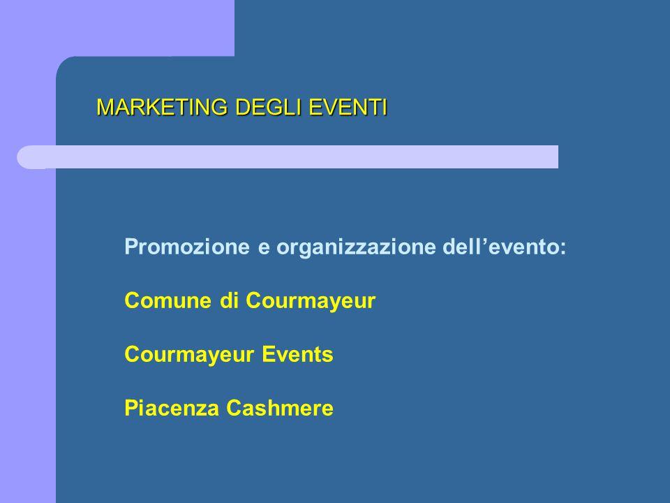 Promozione e organizzazione dell'evento: Comune di Courmayeur Courmayeur Events Piacenza Cashmere