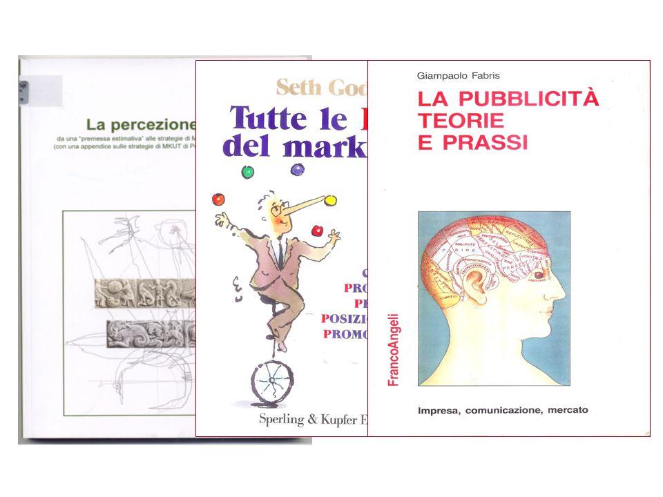 letture consigliate (aspetti generali): > G. PELLICELLI Il Marketing - UTET, Torino, 1999 > G. COZZI - G. FERRERO Marketing. Principi, metodi, tendenz
