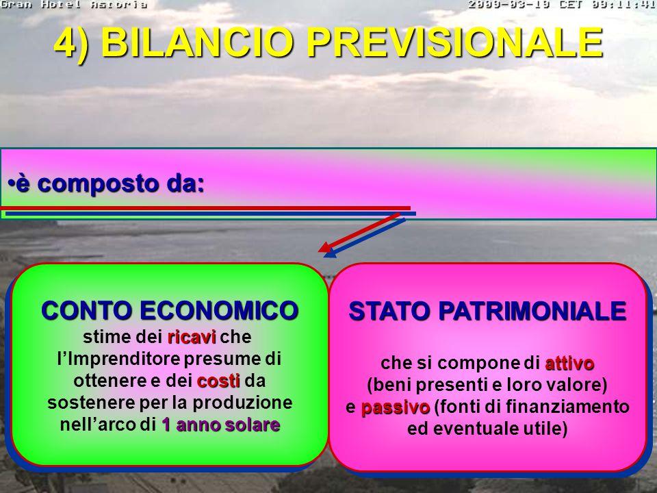 3) PIANO COSTI-RICAVI serve per valutare se l'impresa è in grado di produrreserve per valutare se l'impresa è in grado di produrre un utile, calcoland