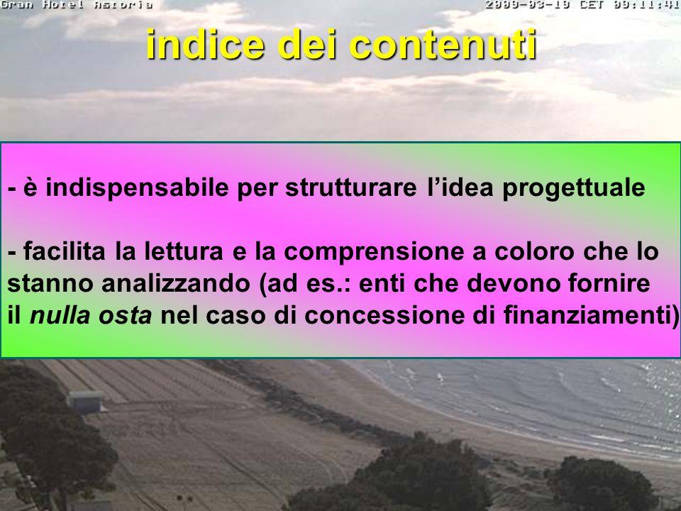 struttura del BP indice contenuti (strutturazione dell'idea progettuale) Executive Summary (descrizione sintetica del progetto) profilo professionale