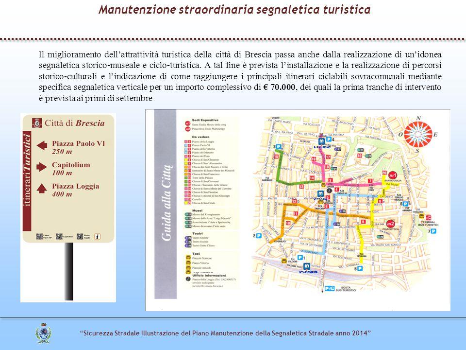 """""""Sicurezza Stradale Illustrazione del Piano Manutenzione della Segnaletica Stradale anno 2014"""" Il miglioramento dell'attrattività turistica della citt"""