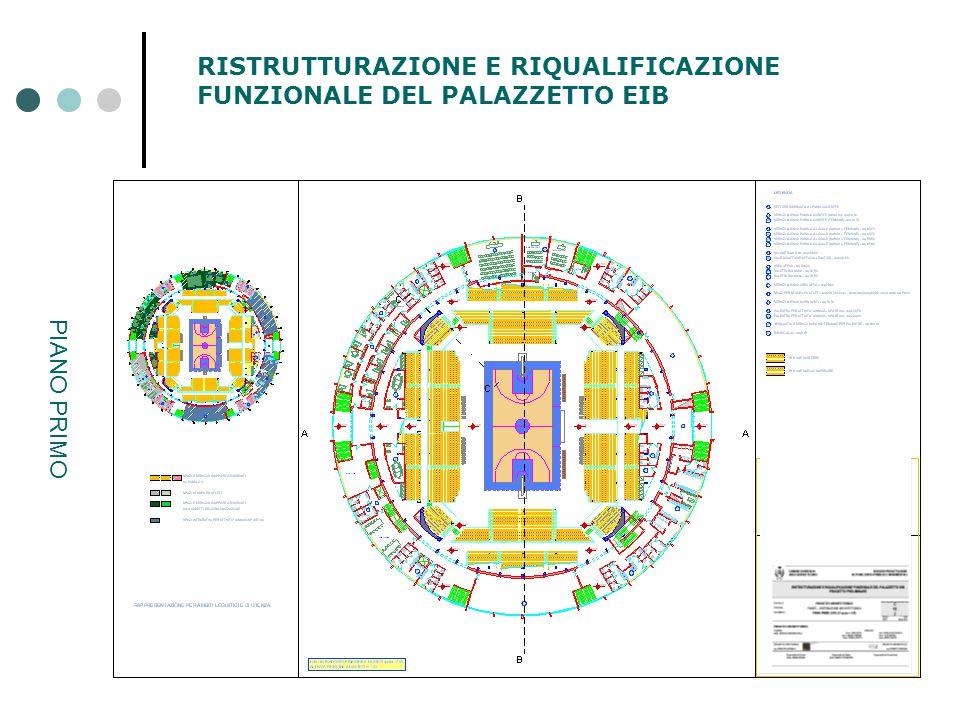 RISTRUTTURAZIONE E RIQUALIFICAZIONE FUNZIONALE DEL PALAZZETTO EIB PIANO PRIMO