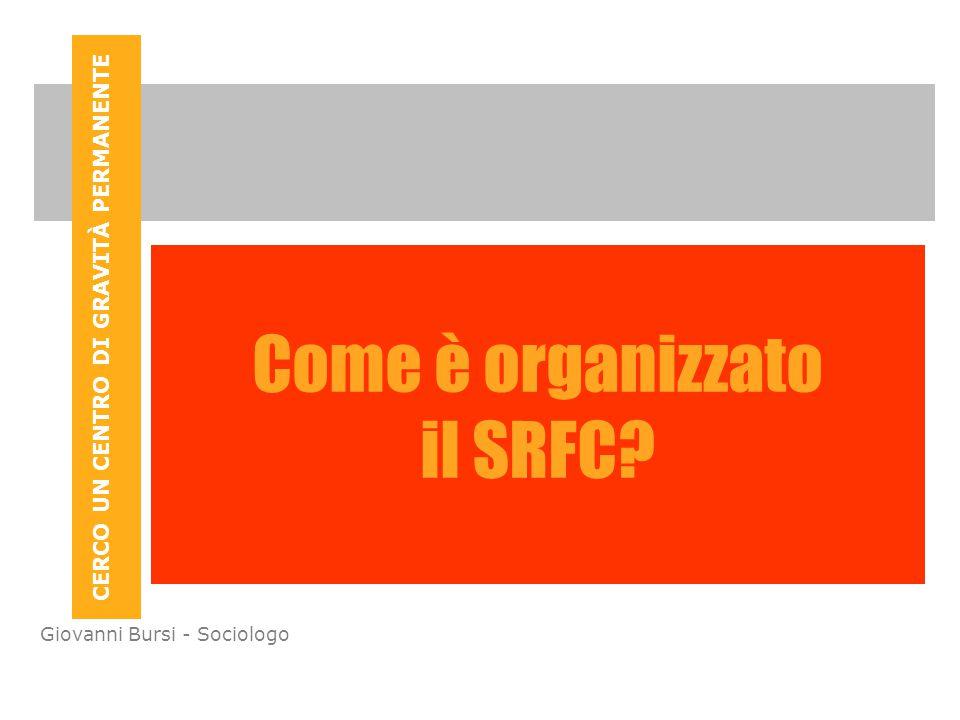 CERCO UN CENTRO DI GRAVITÀ PERMANENTE Giovanni Bursi - Sociologo Come è organizzato il SRFC?