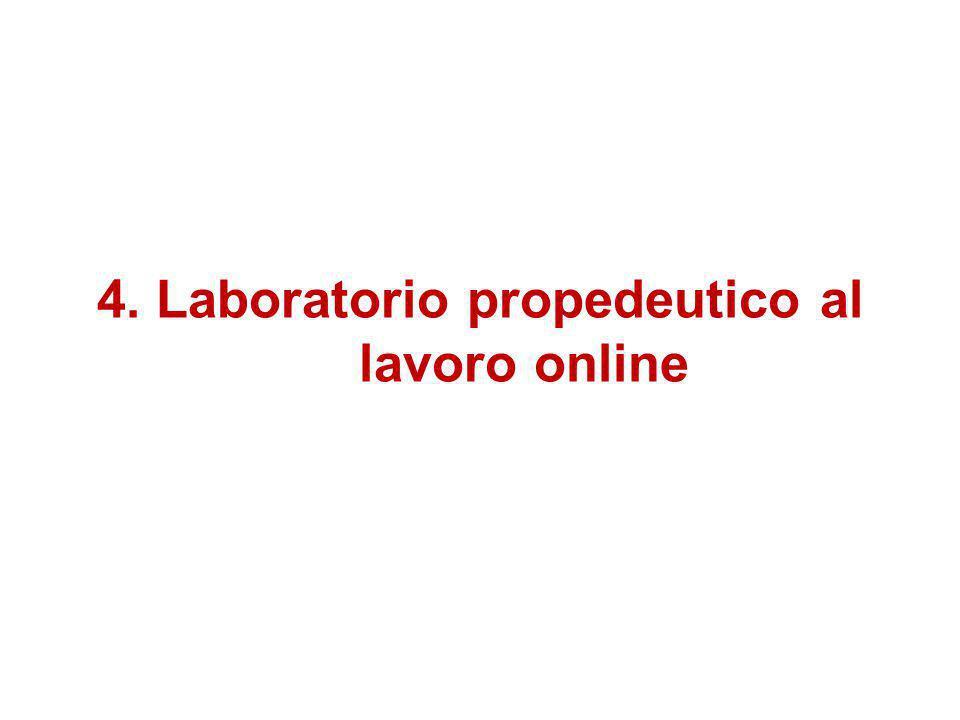 4. Laboratorio propedeutico al lavoro online