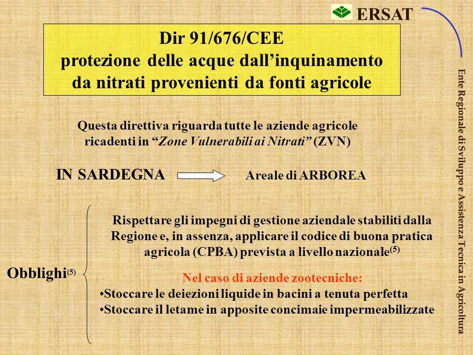 ERSAT Ente Regionale di Sviluppo e Assistenza Tecnica in Agricoltura Dir 86/278/CEE protezione suolo – utilizzo fanghi Obblighi (5) 1.Formulario ident