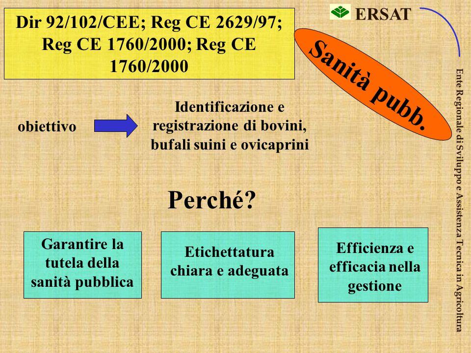 ERSAT Ente Regionale di Sviluppo e Assistenza Tecnica in Agricoltura Dir 91/676/CEE protezione delle acque dall'inquinamento da nitrati provenienti da