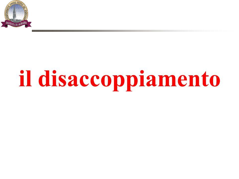 Le virtù del disaccoppiamento (1) Il DISACCOPPIAMENTO è il vero punto qualificante ed innovativo: la vera sfida.