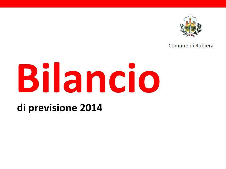 di previsione 2014 Bilancio