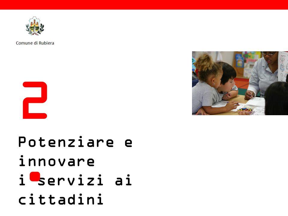 Potenziare e innovare i servizi ai cittadini 2.2.