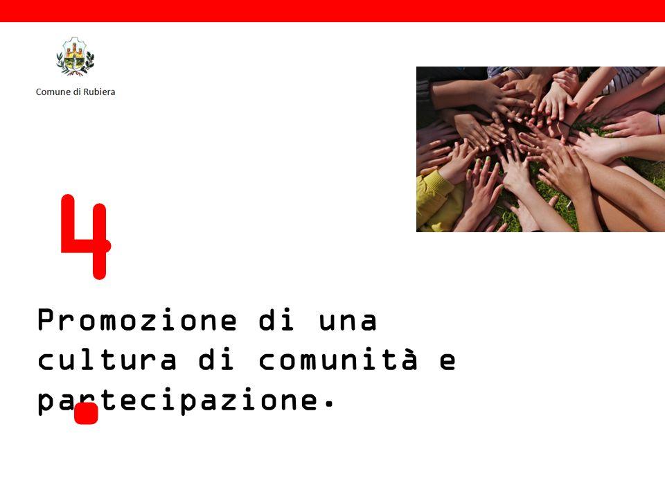 Promozione di una cultura di comunità e partecipazione. 4.4.