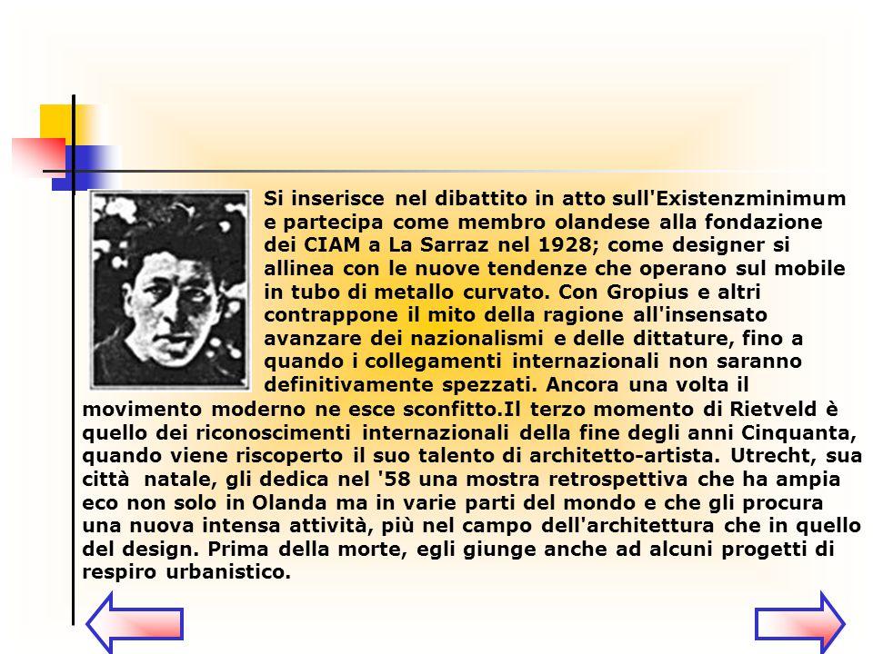 Dal 1971, un azienda italiana, la Cassina, ha acquistato i diritti internazionali sui mobili di Rietveld, inserendo nella collezione I Maestri i suoi pezzi più famosi, che vanno ad aggiungersi a quelli di Le Corbusier già in produzione da tempo e a quelli di Mackintosh, in una attenta operazione di ricostruzione filologica.
